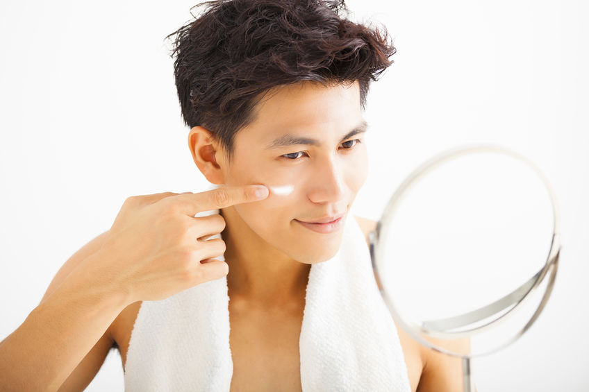 skincare routine for man