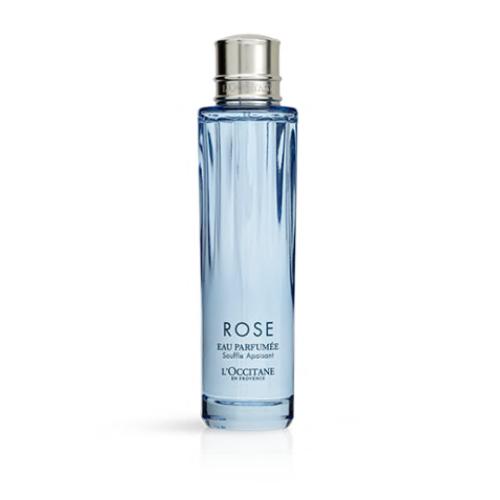L'occitane rose water blue bottle
