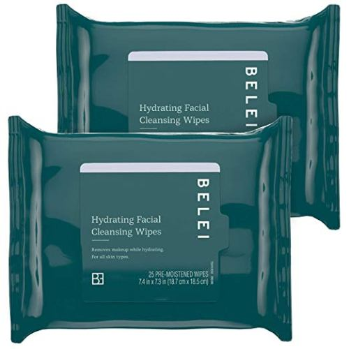 Hydrating facial cleansing wipes