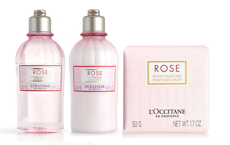 L'Occitane rose body care products