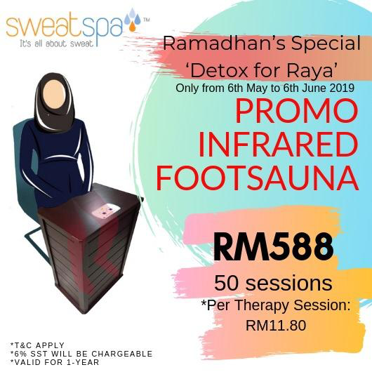 Sweat Spa Promo infrared foot sauna