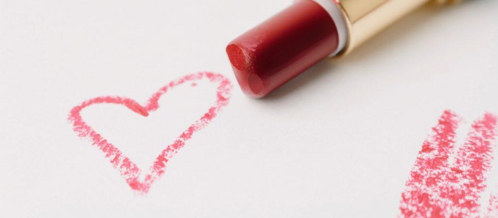 message written with lipstick