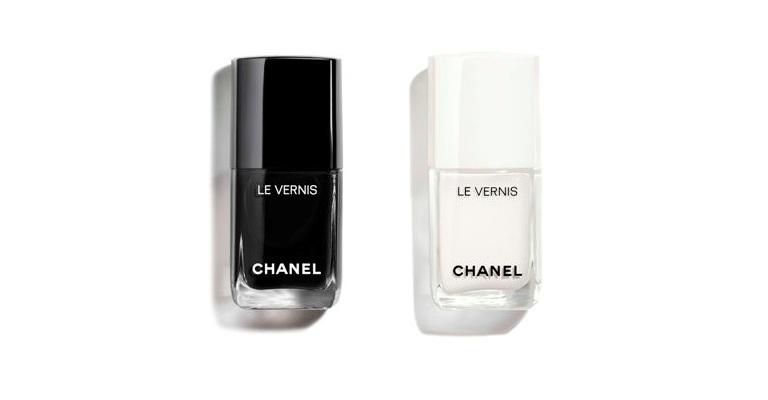 nail polish - black and white