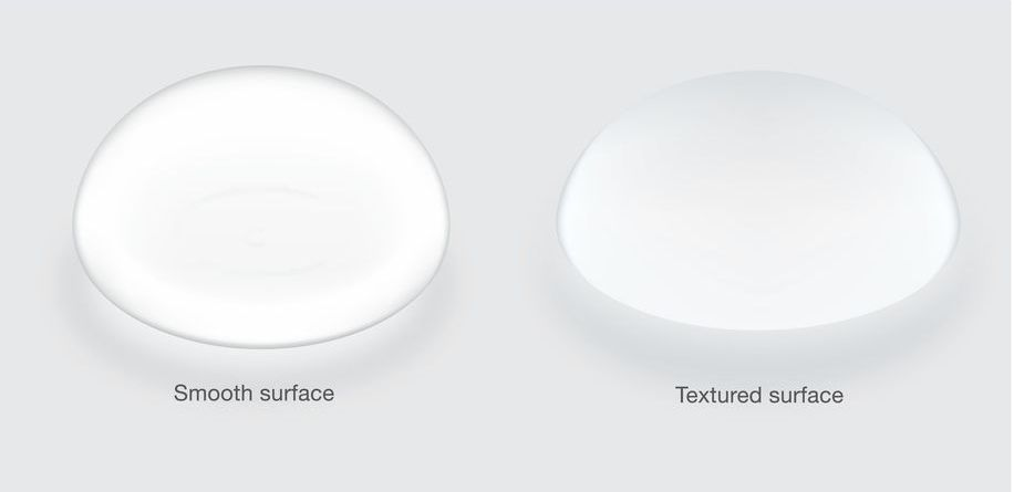 surface types of breast implants