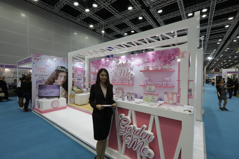 product booth at the beauyexpo