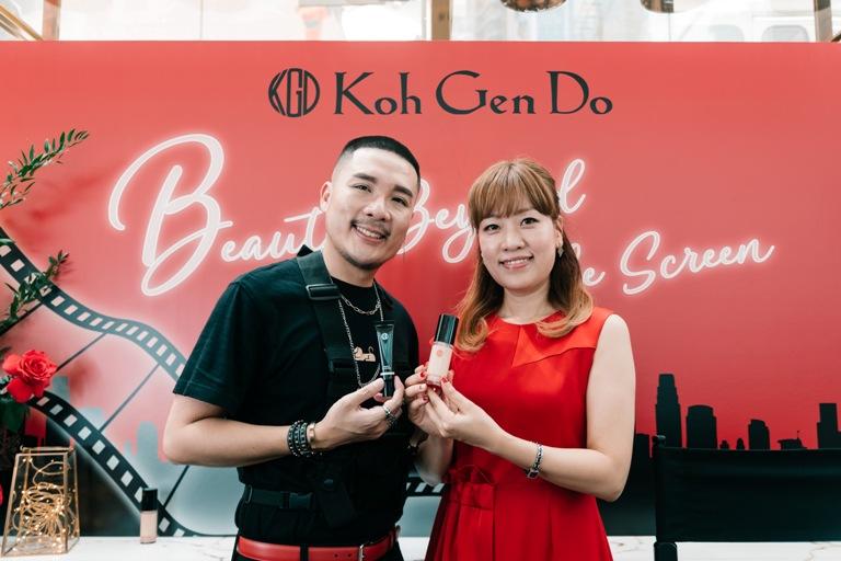 koh gen do General Manager of Overseas Sales Development, Ms Yunje Jang and celebrity makeup artist Gary Cheok