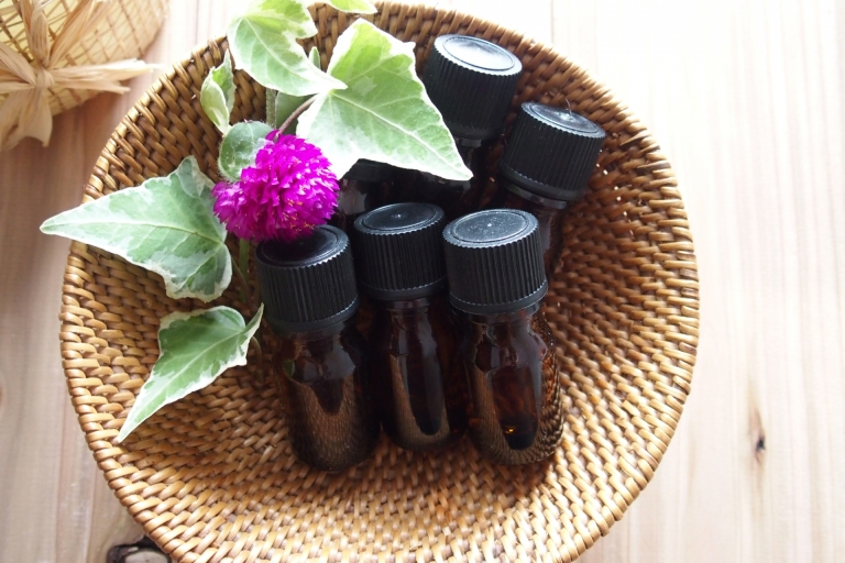 basket of essential oils