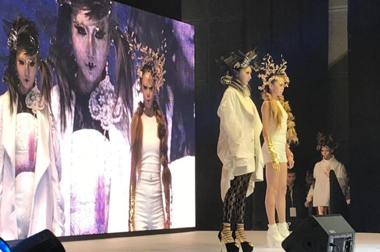 hair models on stage at the beauty expo
