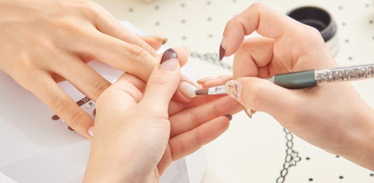 getting nails done at nail salon